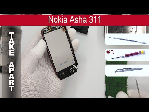 How to disassemble 📱 Nokia Asha 311, take apart