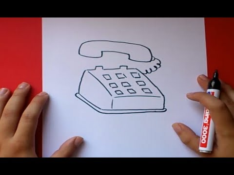 Como dibujar un telefono paso a paso  How to draw a phone  YouTube