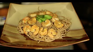 Quick & Clean Eating: Lemon Garlic Shrimp Over Spelt Pasta