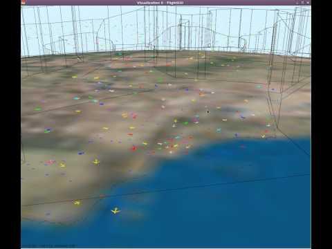 3D Air Traffic in the US (Globe) - FliteViz4D