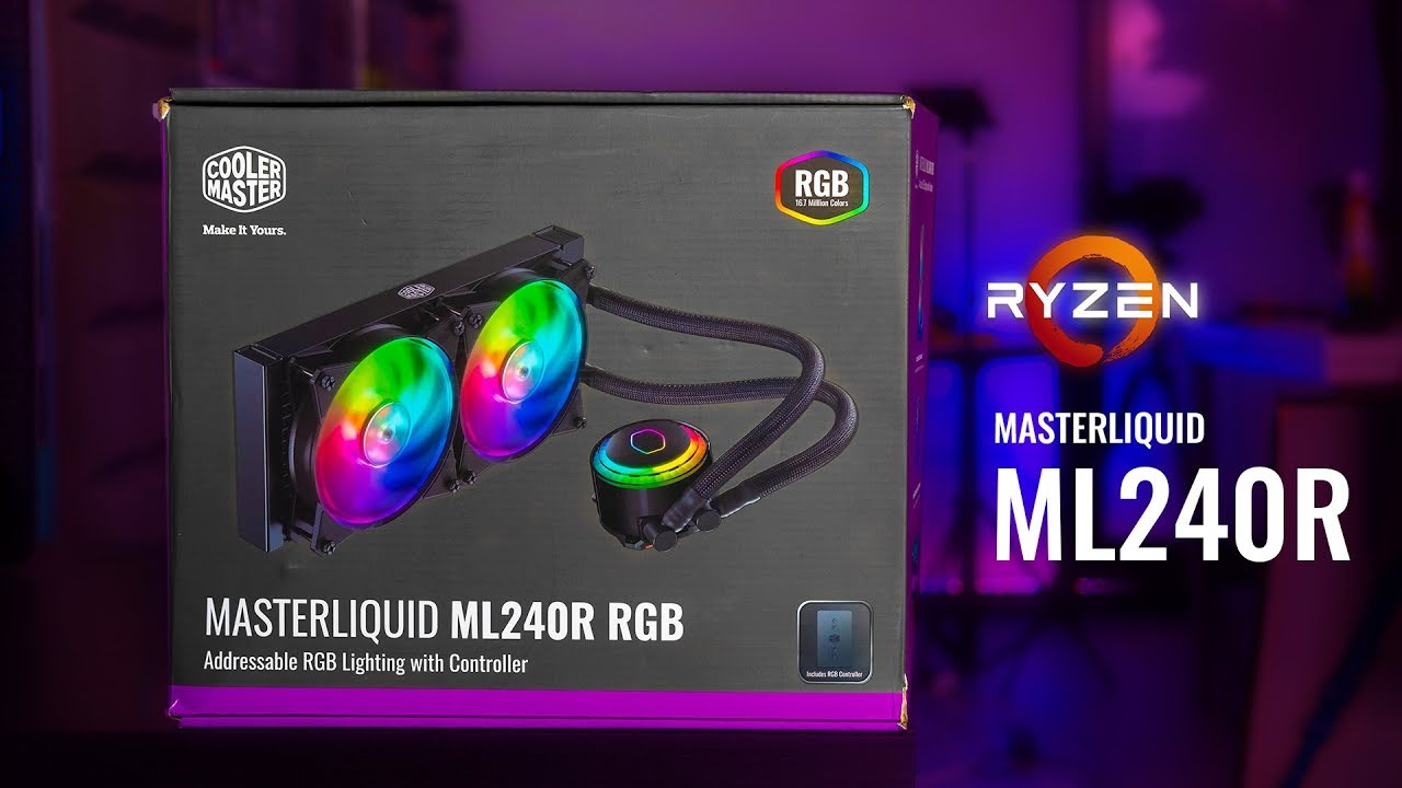 HOWTO Install Cooler Master MasterLiquid ML240R RGB on AM4 Motherboards