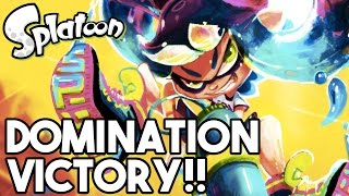 DOMINATION VICTORY!! Splatoon Gameplay Walkthrough - Multiplayer (Wii U 60FPS 1080p)