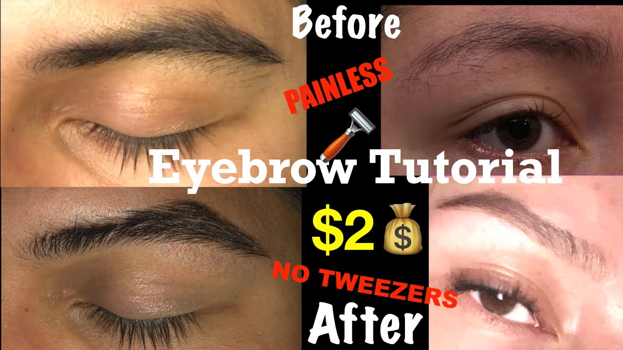 HOW TO CLEAN YOUR EYEBROWS TUTORIAL WITH NO TWEEZERS ...