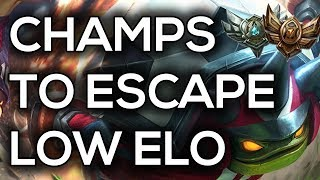 Best Champs To Escape Low Elo For End Of Season 8   Best Champs For Bronze, Silver and Gold S8 End