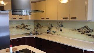 Кухонные фартуки с фотопечатью на стекле(, 2014-07-09T12:43:17.000Z)