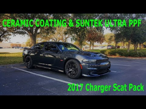 Suntek Ultra PPF Clearbra and Ceramic Coating Dodge Charger Scat Pack