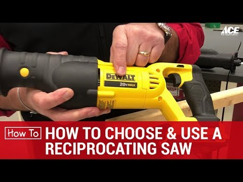 How To Choose and Use A Reciprocating Saw - Ace Hardware