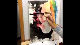 Уроки рисунка и живописи. Портрет акварель.