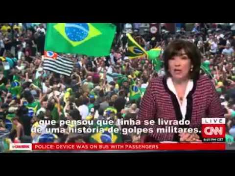 Christiane Amanpour da CNN questiona o jornalista Glenn Greenwald sobre o impeachment de Dilma.