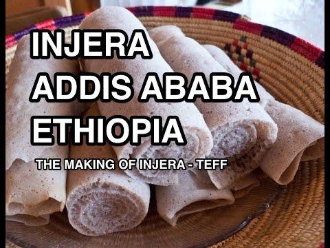 Making Injera - Teff Flour Addis Ababa Ethiopia