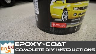 How to Epoxy a Garage Floor - Every Step Explained