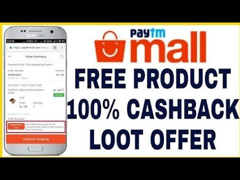 Paytm free shopy 100% cash back on every purchase.