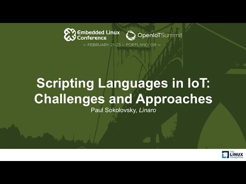Scripting Languages in IoT: Challenges and Approaches - Paul