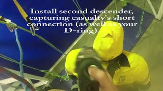 IRATA L3: Passing a double deviation with a casualty