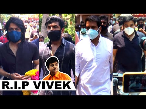 Santhanam Arun Vijay Harish Kalyan Pays Last Respect to Actor Vivek | RIP Vivek | HD