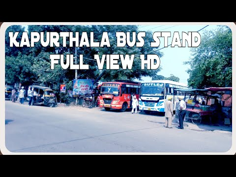 Kapurthala Bus Stand Full View HD My Imagination Visit Punjab