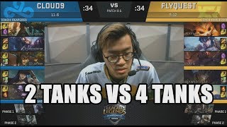 C9 (Sneaky Caitlyn) VS FLY (Wildturtle Kogmaw) Highlights - 2018 NA LCS Spring W9D2
