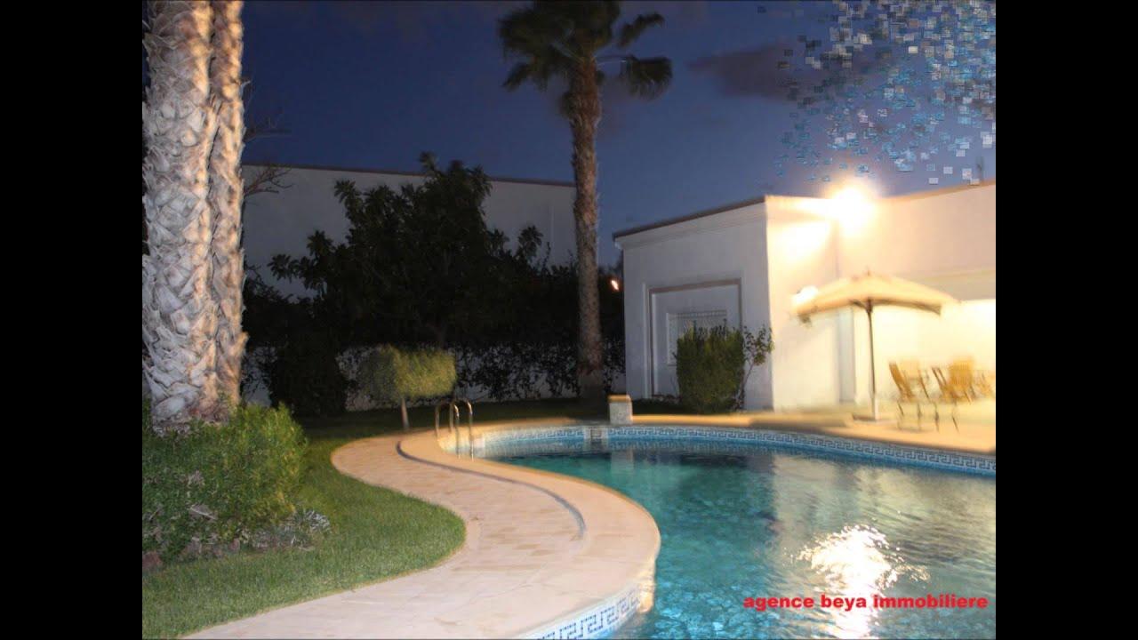 Une belle villa de charme avec piscine au lac1 beya immobilière