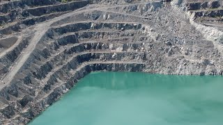 Once The Largest Asbestos Mine in the World -  Canada - Open Pit