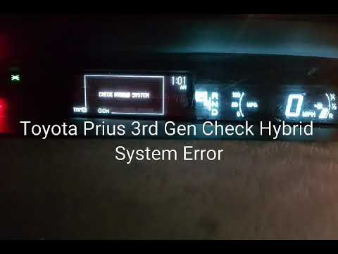 Toyota Prius Check Hybrid System Error