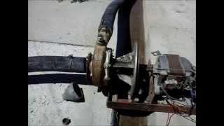 Водяной насос с двигателем от современной стиральной машины(, 2014-06-26T13:23:47.000Z)