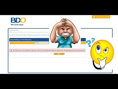 BDO online banking update 2021