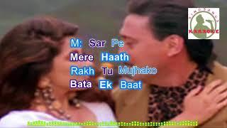KHABI BHOOLA hindi karaoke for Male singers with lyrics