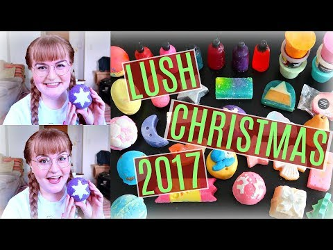 "MASSIVE LUSH CHRISTMAS ""WOW"" GIFT UNBOXING! 