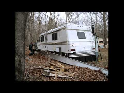 Putting Up Rv Skirting And A Huge Addition To The Off Grid
