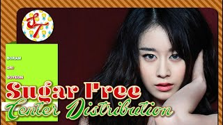 T-ARA - Sugar Free: Center Distribution (Color Coded)
