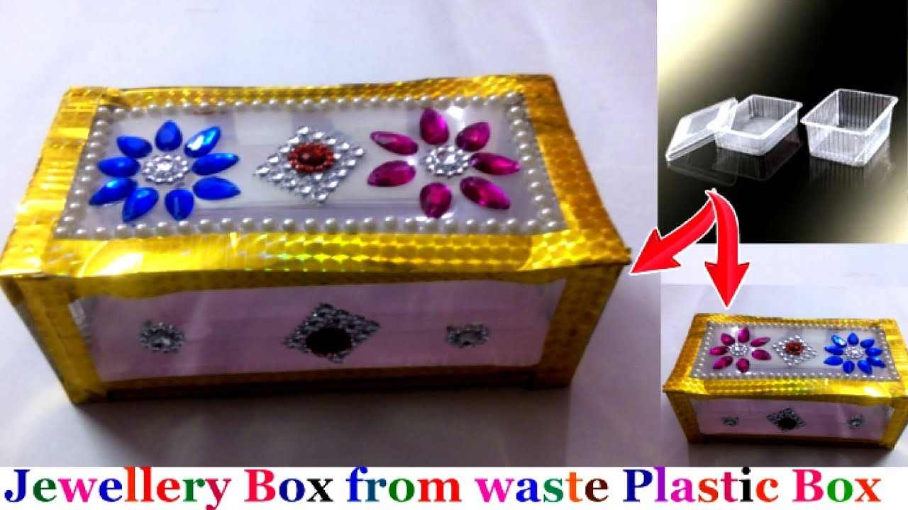 Diy Jewellery Box Bangle Box From Waste Plastic Box Easy Best Out