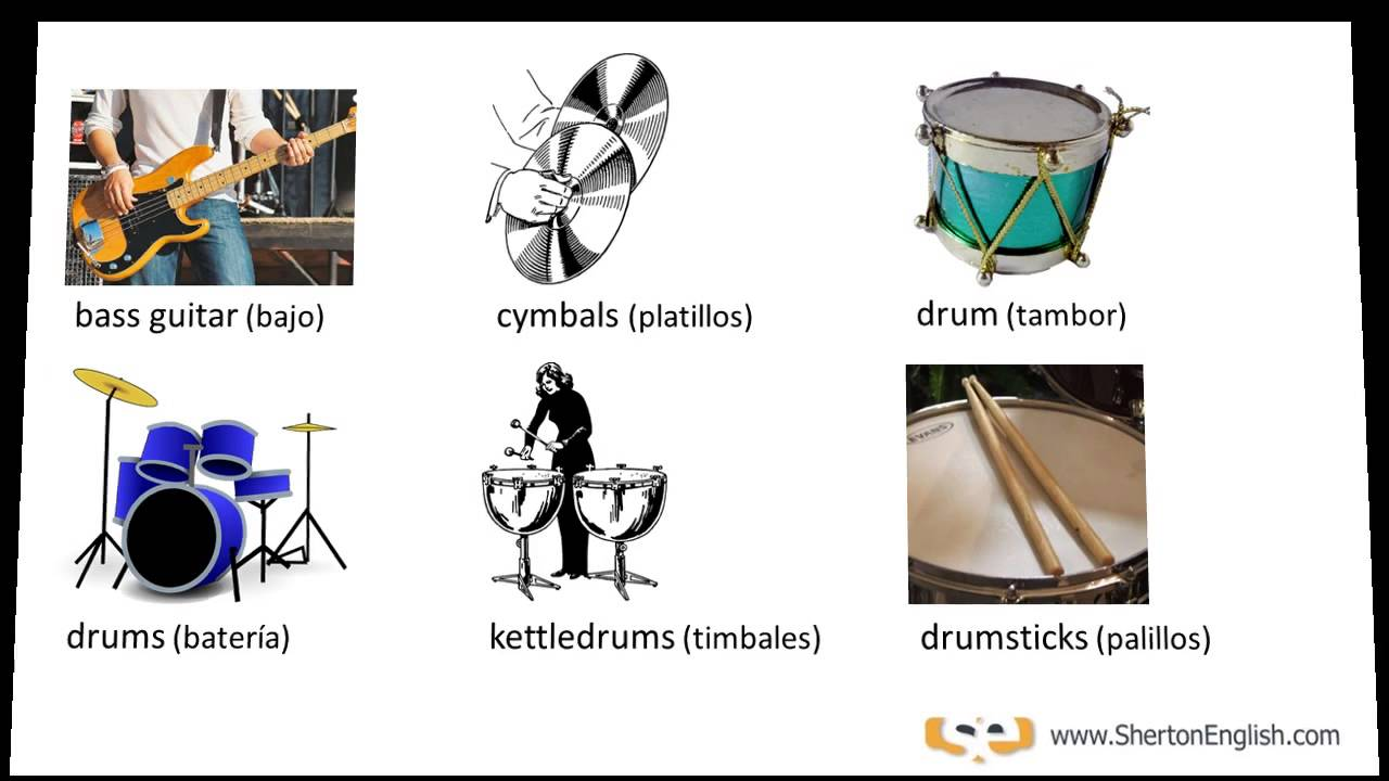 Instrumentos Musicales En Inglés Musical Instruments Links Below Youtube