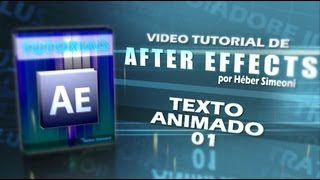 Tutorial (After Effects) - Texto animado
