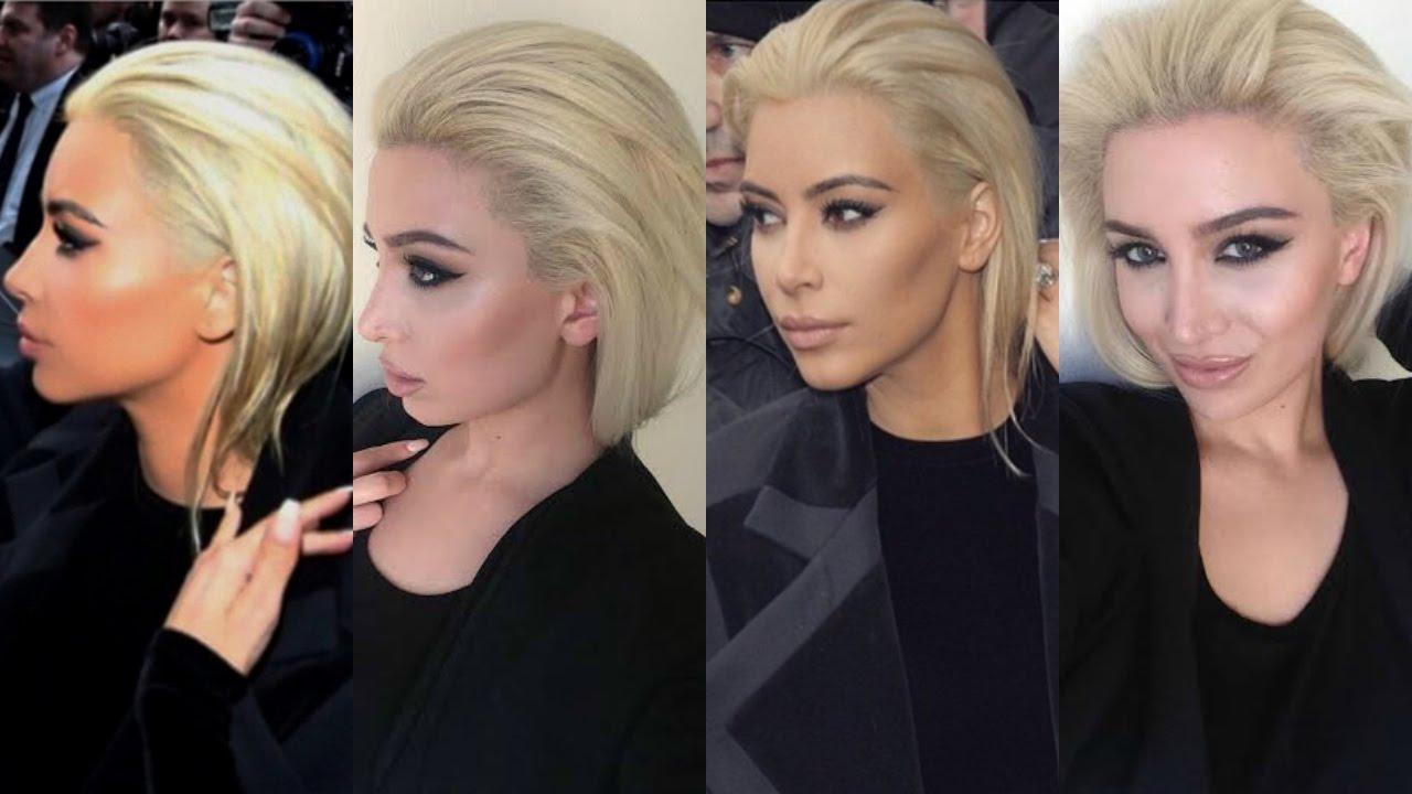 Kim Kardashian EASY Smokey Eye & BLONDE Hair 2015  #Trend