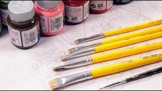 Lista de materiais para iniciar a pintar em Tecido