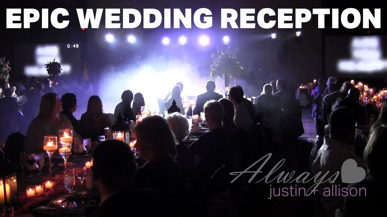 Epic Wedding Reception Grand Entrance And Highlights The Chapins
