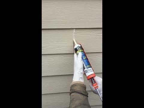 How to Caulk Hardie Plank Lap Siding Field/Butt Joints-DIY