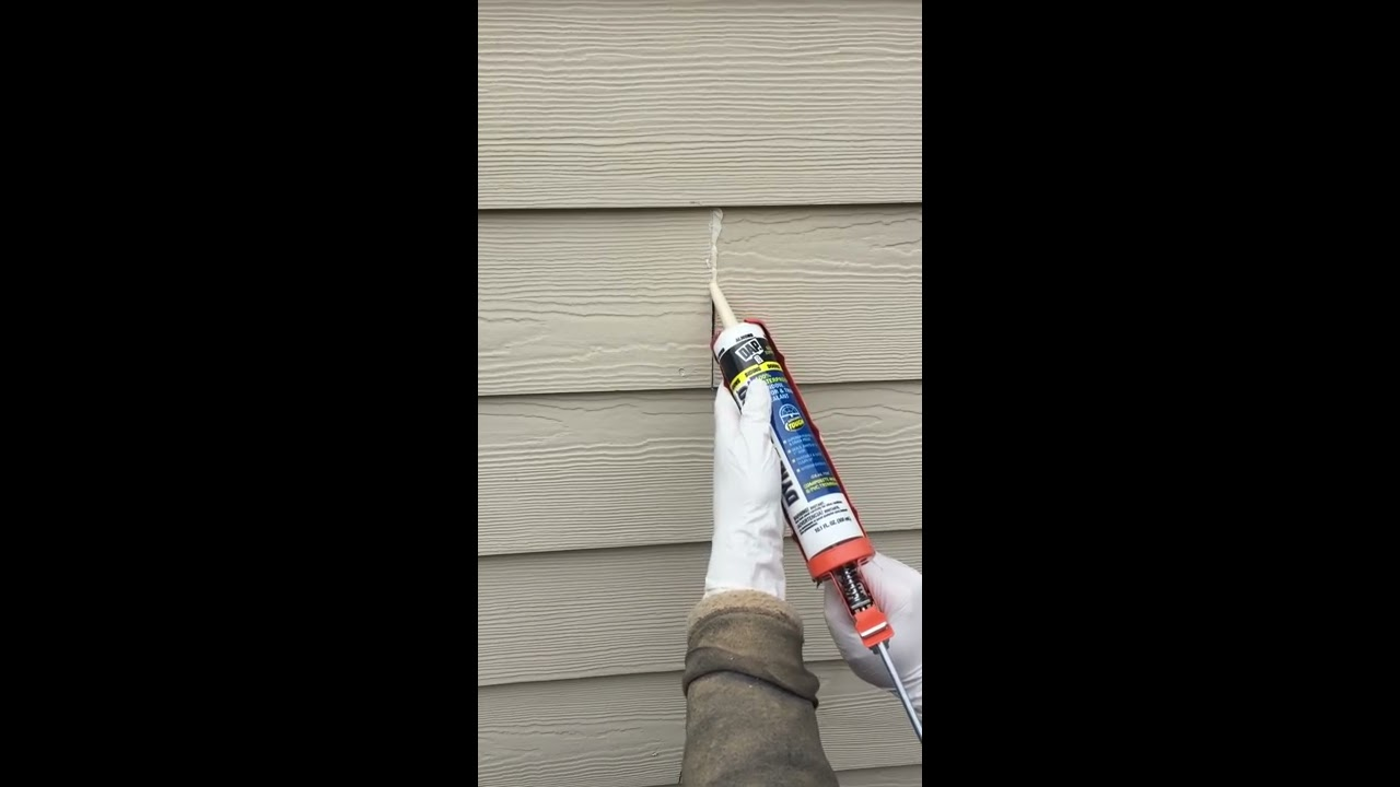 How To Caulk Hardie Plank Lap Siding Field Butt Joints Diy