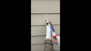 How to Caulk Hardie Plank Lap Siding Field/Butt Joints-DIY/Post-Construction