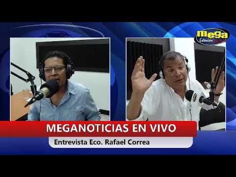 Rafael Correa. Entrevista desde Santo Domingo en Radio Mega Estación