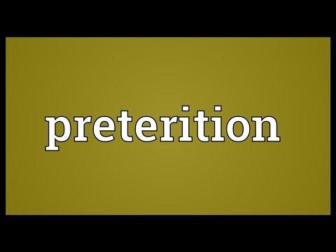 Header of preterition