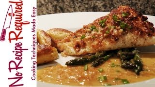 Hawaiian Style Macadamia Crusted Halibut - Noreciperequired.com