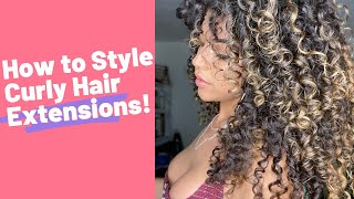 How to Style Bebonia Curly Hair Extensions