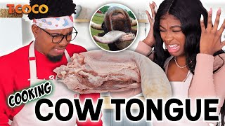 Professional Chef Teaches The Worst Amateurs Ever How to Cook COW TONGUE! | PART 1