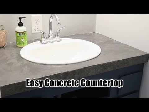 DIY Concrete Countertop ($45 Project)