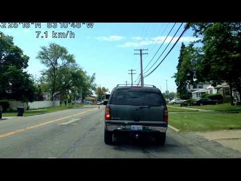 Driving from Detroit, Michigan to Clinton Township, Michigan