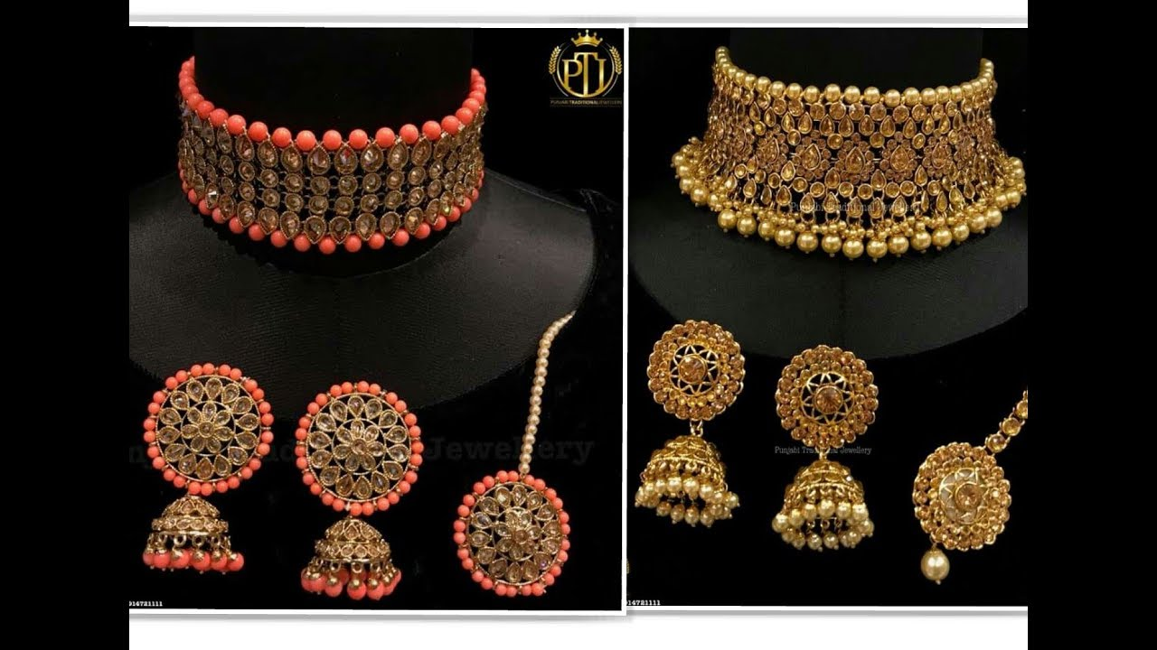 Beautiful Kundan Choker Necklace Set Design 2018 Lifestyle Youtube