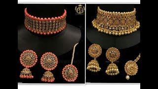 beautiful Kundan choker necklace set design 2018    lifestyle