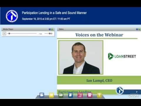 NCUA Webinar:  Participation Lending in a Safe and Sound Manner (9/16/2015)