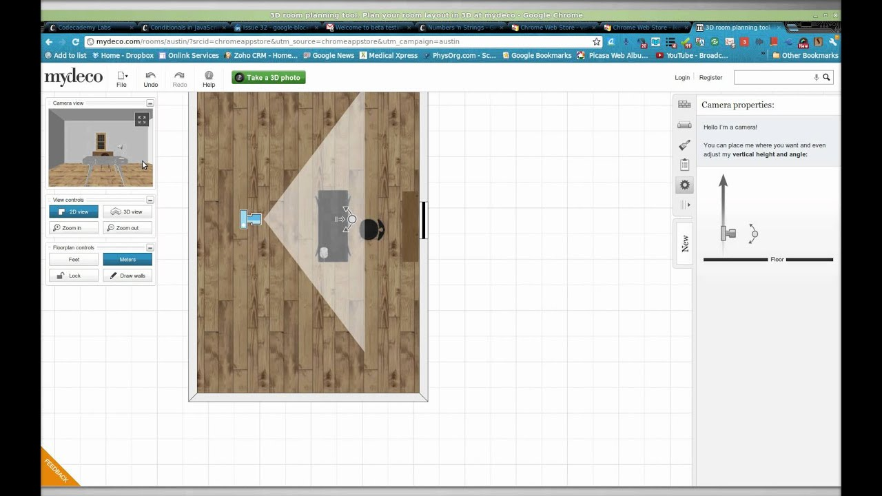 Where was Ikea? Mydeco on chrome web store is pretty cool for quick 3D  interior design idea